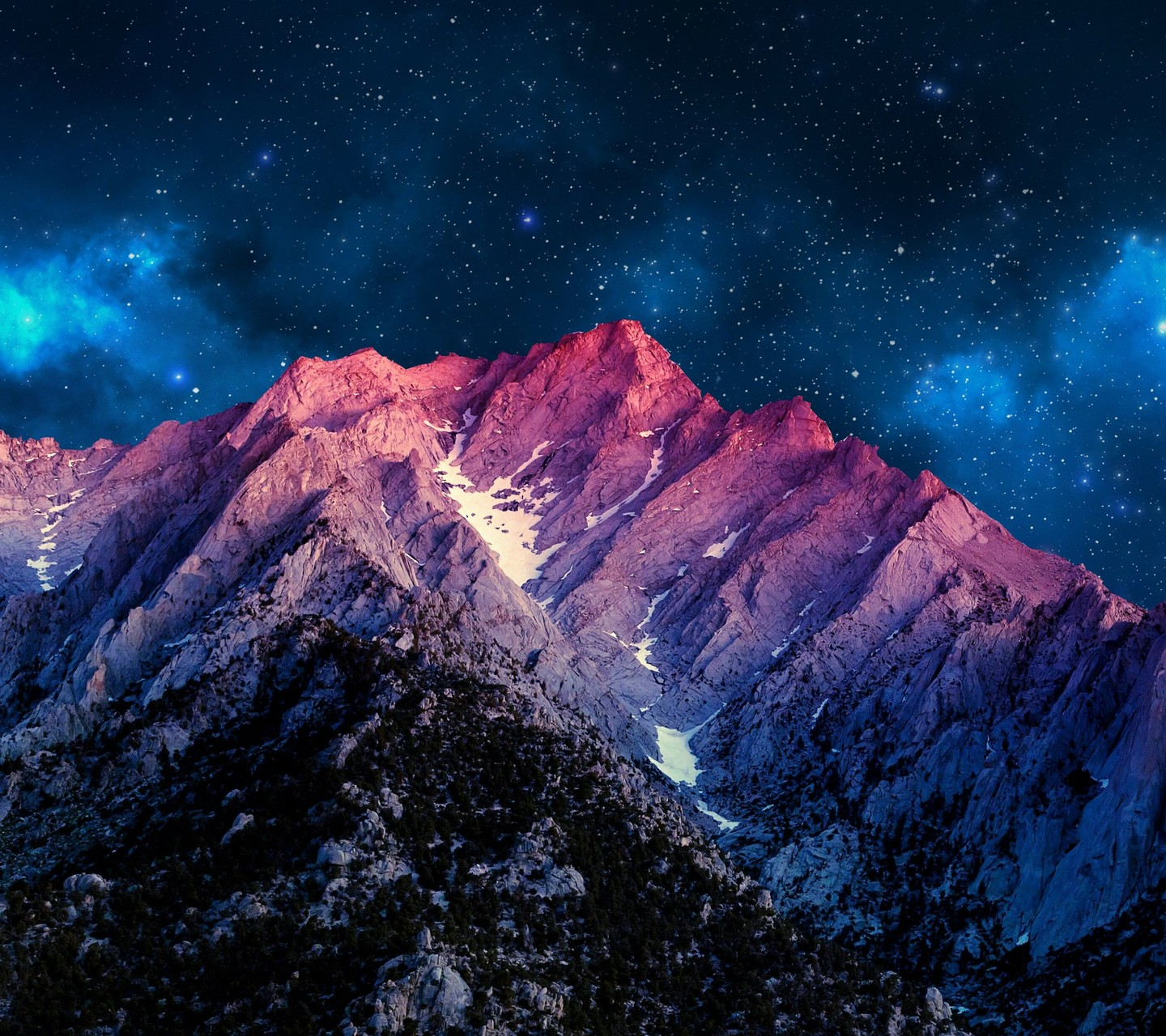 Colorful Sky And Mountains